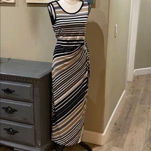 Stripped, tank maxi dress